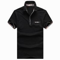 Men turn down collar short-sleeve T-shirt shirts tees tops sports clothes free shipping