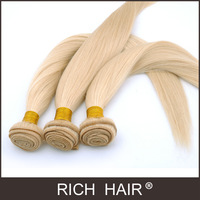 Straight Light Blond 613# Brazilian Hair weaves hair extension