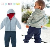 Retail 2014 new arrive children boys brand track suit children sport clothing 2 pcs set top+pants free shipping