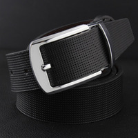 Both sides of the strap genuine leather cowhide male pin buckle belt male fashion belt male