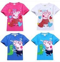 new 2014 boys summer clothes brand children t shirts/nova kids children outerwear peppa pig girl t shirt wholesale free shipping