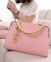 2014 fashion Wholesale New Korean women  bag women's handbag  fashion glossy patent leather bag women leather handbags