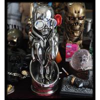 T0766 H.R.Giger Birth Machine Baby Bullet Figurine Statue 45cm Copper Color Resin Classic Decoration OGRM
