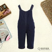 factory wholesale Children Siamese pants Jean pants 1~3 years kids trousers jean material Monkey print  TZ17009