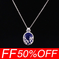 [Free shipping for 1pcs] New The Vampire diaries Katherine sun silver, natural opal necklace pendant