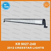 "40"" 240W Dual row led 4x4 light bar, 240w LED off road light bar, High brightness off road light bar KR9027-240"
