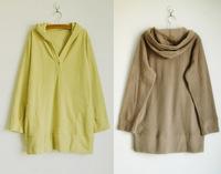 Senshukai women's polar fleece fabric with a long design hood sweatshirt chromophous plus size available