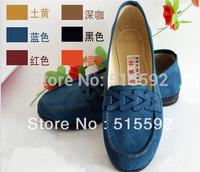 Free shipping new 2015 women flats Cotton-made shoes women's shoes flat heel single shoes nurse work shoes slip-resistant shoes