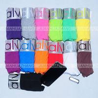 Mix Order Mens Underwear Cotton Good quality brand steel belt boxers shorts trunk Mix-color Black Gray White 3 pcs/lot Retail