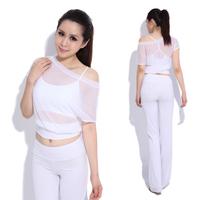 Yoga clothes set black white fitness clothing female 11851 12159