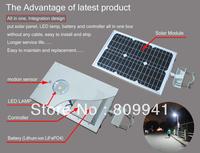 2014 new design solar integrated street/garden light all in one 15W