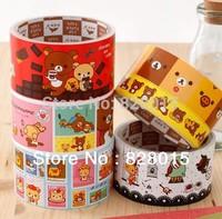 Free shipping 20pcs/lot Rilakkuma tape Stationery masking tape for Gift Decorative Packaging tape Size L