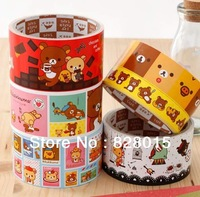 Free shipping 20pcs/lot Rilakkuma washi tape Stationery masking tape for Gift Decorative Packaging tape Size L