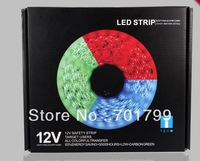 5m/roll 150leds DC12V IP65 SMD5050 strip lights+44keys rgb IR remote controller+powe adaptor