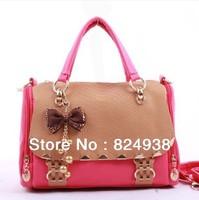 2014 Korean version of the new Women's Bag bow portable shoulder bag Messenger bag