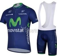 2014 New movistar Cycling Jersey /Bike Bicycle Wear With  Bib Shorts Suits Size :S~XXXL