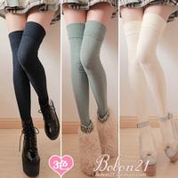 Sweet lolita Bars bobon21 delicate cutout plaid decorative pattern lengthen over-the-knee socks thigh socks ac0970