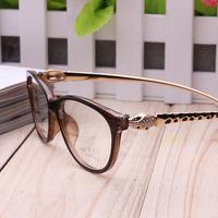 2014 rushed alloy fashionable men and women retro leopard head diamond plate frame myopia korea plain glasses new radiation