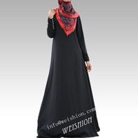 2014 In stock Summer beautiful women black abaya muslim clothing