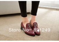 2014 new European and American retro  plus cotton scoop  Crow heart toe flat with rivets single shoes shoes women shoes