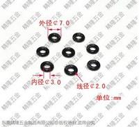fasteners washers Cooling fan shock ring, O ring shock black rubber ring seal M3 - 3*7*2  screws shockproof shockproof ring