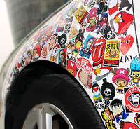 Fast Shipping WaterProof Car sticker car decoration doodle personalized motorcycle applique car stickers