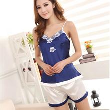 Sleepwear Lace Silk Nightgown
