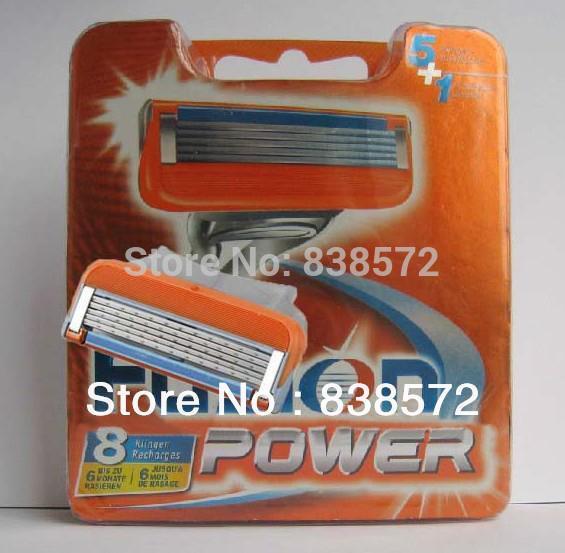 Free Ship 8pcs/lot Original package FP 8S Shaving razor blade for men Best Power Blades for Manual Sharpener Shaver high Quality(China (Mainland))