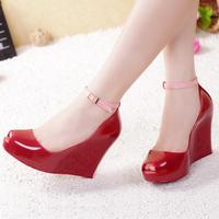 Platform platform sandals melissa jelly shoes open toe high-heeled shoes wedges platform shoes women's shoes