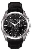 Free shipping+ wholesale! New Original Quartz movement Chronograph Watch T035.617.16.051.00 leather belt