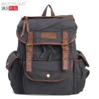 New Fashion Unisex Men Women Vintage Canvas Backpack Back Pack Rucksack School Bag Satchel Hiking Camping Bag Wholesale Sports