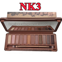 2014 Brand New Naked Eye Shadow Palette UD Naked Make Up 12 Color Naked 3 palette Naked Basics with iron package Dropshipping