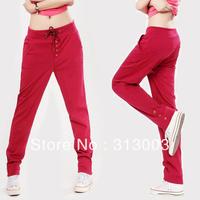 Slim female loose plus size casual sports harem pants basic long wei pants