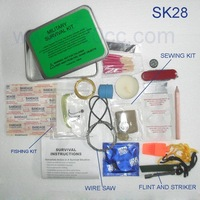 SK28-C 10pcs Camping Outdoor Survival Kit