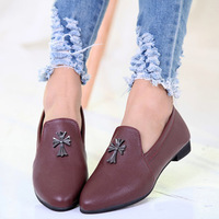2014 New Designer Spring Free Shipping Black And Wine Fashion Women's Flat Shoes Suede Retro Point Toe Women Shoes BZY003