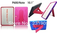 Heavy Duty Hybrid Combo Kickstand Hard Cover Case For Samsung Galaxy Note 10.1 P600 2014,Free Shipping