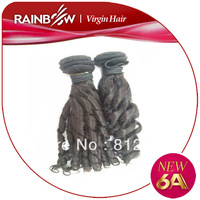 Rainbow Hair  6A Grade  100% Uprocessed Virgin Brazilian Candy Curly  Human Hair 3 Bundles / Package