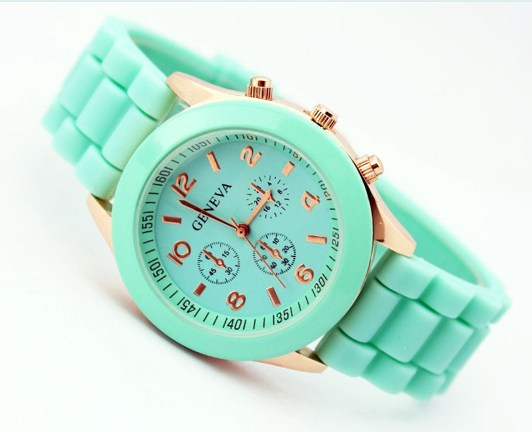 Hot Sale women's fashion watches brand jelly silicone q
