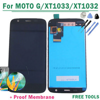 100% Guarantee original For Motorola MOTO G XT1030 XT1032 LCD Display Touch Screen Digitizer Assembly black color Free shipping