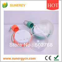 Wholesale Orange/Green Rain-proof Optically Controlled Solar Led Bulb With 4 Pieces Led Light