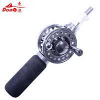 Na wheel through the pole fishing rod reel full metal fish fishing tackle