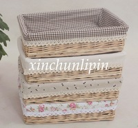 Post free manual Liubian collection basket pastoral fruits storage display of goods basket weave