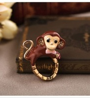 Fashion fashion accessories vintage small monkey elastic ring
