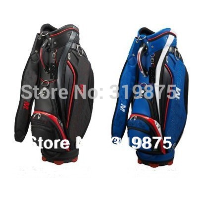 PU Brand Golf Bags Men TM 2014 Golf Staff Bag Blue/Black(China (Mainland))