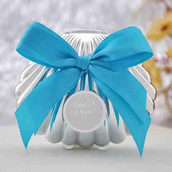 New argent shell bonbonni re pour le mariage beach party - Emballage bonbon personnalise ...