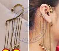 Clip Earrings ear rings Fashion for women Girl's lady unisex tassel metal chain skull desgin CN post