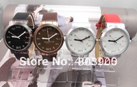 Good Quality 4 colorsUnisex Wristwaches New Arrival leather Sports watch women men students quartz watch~BHA123