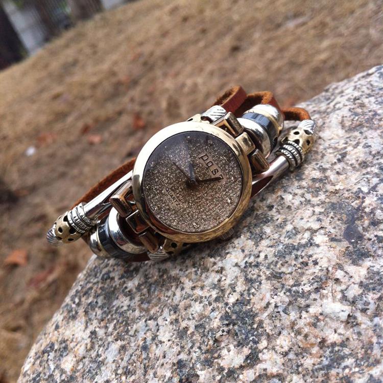 2014 New Arrival Aliexpress Hot Selling Fashion Handmade Leather Strap Jewelry Bracelet Women Dress Watch Wristwatches