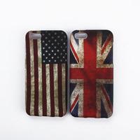 Vintage Retro USA UK British Flag Pattern Soft TPU Case Cover Skin For iphone 5C