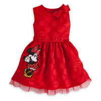 2014 New Wholesale free shipping minni mouse red color bow summer baby girls summer dress 5pieces/lot Kids Princess clothing